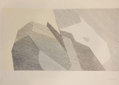 BEAUDIN André (1895-1979)  Composition géométrique,...