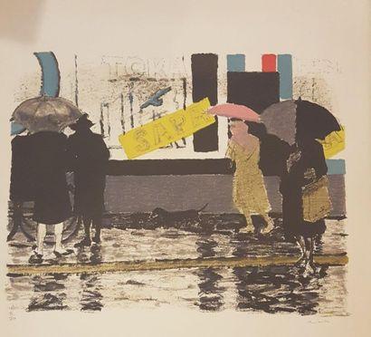 BRIANCHON Maurice (1899-1979)  Rue sous la...