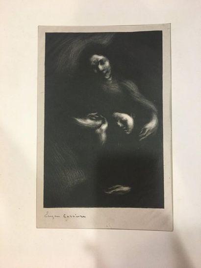 CARRIERE Eugène (1849-1906)  Hommage à Tolstoï...