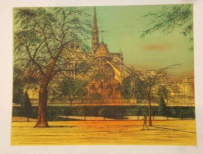 CARZOU Jean (1907-2000)  Le chevet de Notre-Dame,...