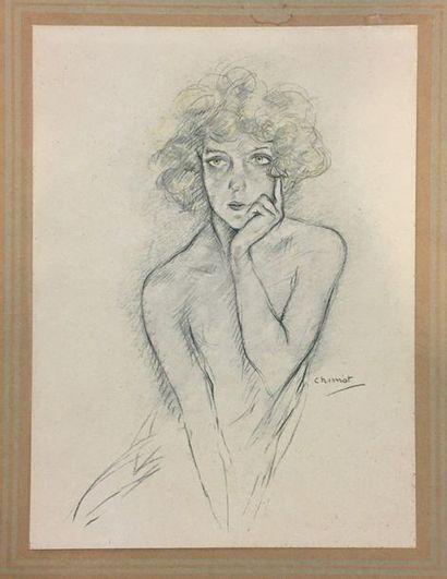 CHINOT Edouard Jules (1880-1959)  Nus,  5...