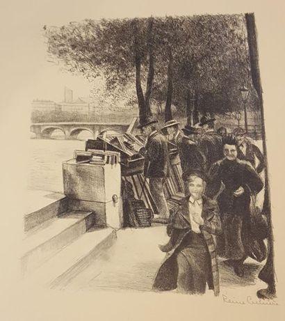 CIMIERE Reine (XX)  Promenade sur les quais...