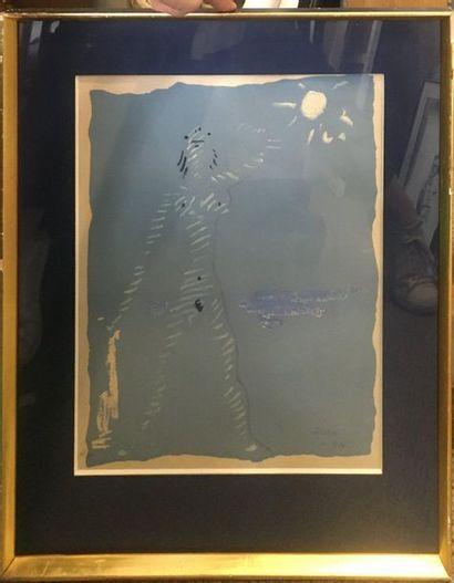 COCTEAU Jean (1889-1963)  Baigneuse,  lithographie...