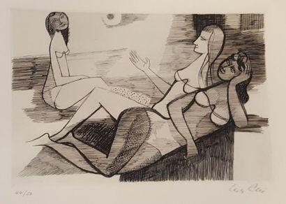 ALIX Yves (1890-1969)  Baigneuses  gravure...