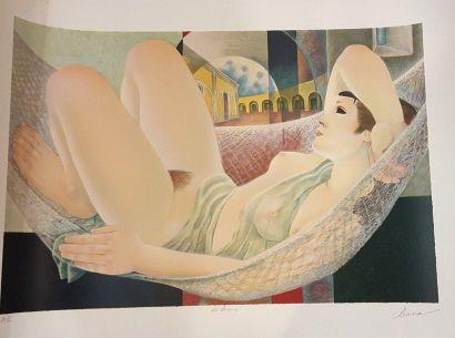 ARANA Alfonso (1927-2005)  La rêverie  Lithographie...