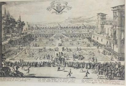 Jacques CALLOT (1592 - 1635)  Le parterre...