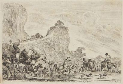 Stefano DELLA BELLA (1610 - 1664)  Le voyage...