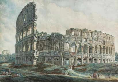 DUCROS Abraham - Louis - Rodolphe (Attributed to)  Moudon (Switzerland) 1748 - Lausanne...