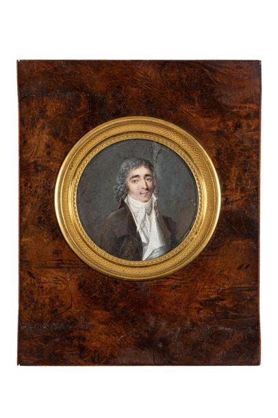 AUBRY Louis - François (Attribué à)  Paris 1767 - id. ; 1851  Portrait d'homme en...
