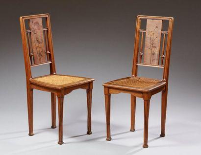 Louis MAJORELLE (1859-1926)  Deux chaises...