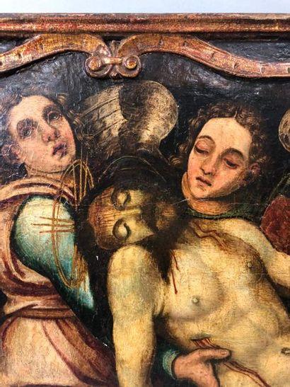ECOLE ITALIENNE  Dans le goût de la première moitié du XVI siècle.  Le Christ au...