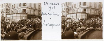 PHOTOGRAPHIE AMATEUR. Carnaval Paris 1911,...
