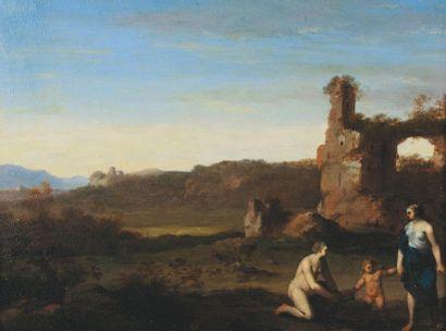 VAN POELENBURGH Cornelis (attribué à)  (Utrecht, 1595 - Utrecht 1667)  Vénus et...