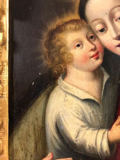 FRENCH SCHOOL, first third of the 17th century  The Virgin and Child  Oil on panel...