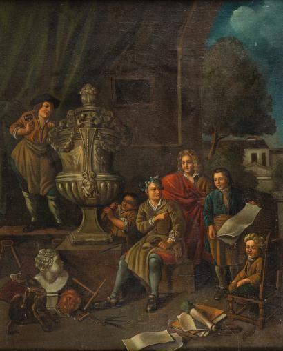 ECOLE HOLLANDAISE vers 1700  suiveur de Jean...