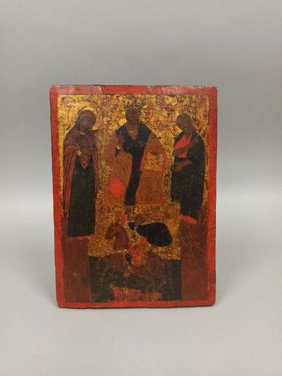 Une icône XVII/XVIIIème siècle « Saint Georges...