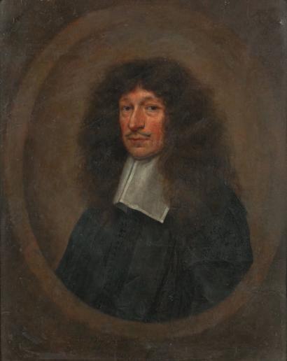 ECOLE FRANCAISE vers 1680  Portrait de gentilhomme...
