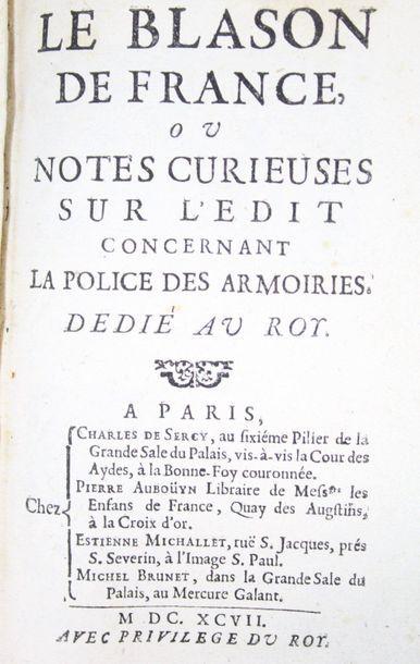 EMBLÈMES & HÉRALDIQUE. - Ensemble 2 ouvrages....