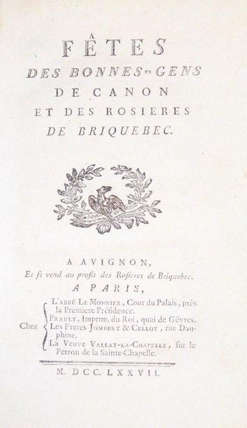 LE MONNIER (l'abbé Guillaume-Antoine). Fêtes...