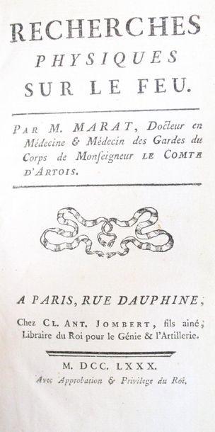 MARAT (Jean-Paul). Recherches physiques sur...