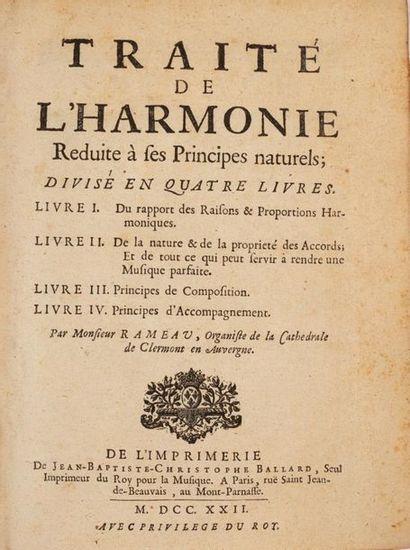 RAMEAU (Jean-Philippe). Traité de l'harmonie...