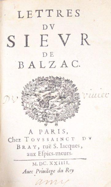 BALZAC (Jean-Louis Guez de). Lettres. Paris,...