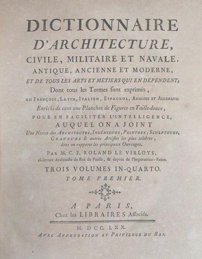ROLAND LE VIRLOYS (Charles-François). Dictionnaire...