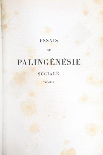 BALLANCHE (Pierre-Simon). Essais de palingénésie...