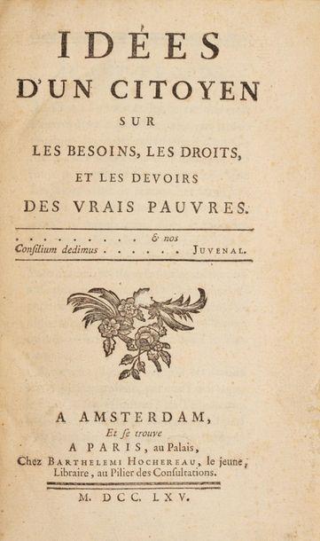 BAUDEAU (l'abbé Nicolas). Idées d'un citoyen...