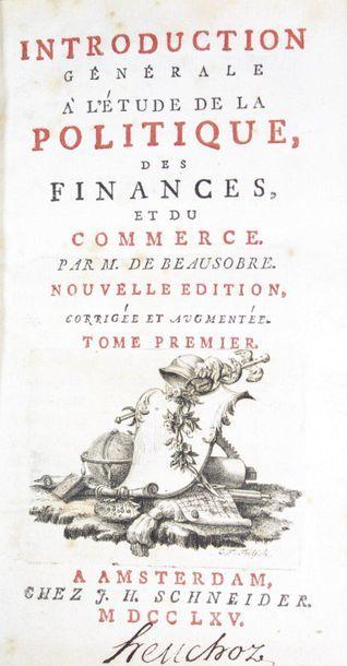 BEAUSOBRE (Louis de). Introduction générale...
