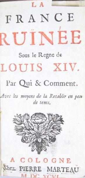 BOISGUILBERT (Pierre Le Pesant de). La France...