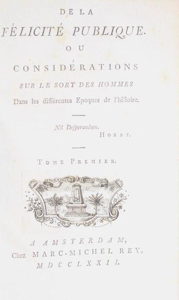 [CHASTELLUX (François Jean marquis de)]....