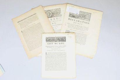 COMPAGNIE DES INDES. - Ensemble 4 brochures....