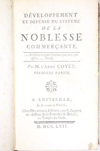 [COYER (l'abbé Gabriel-François)]. La Noblesse...