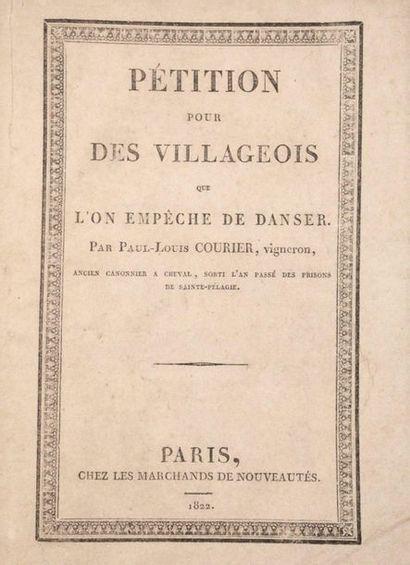 COURIER (Paul-Louis). Simple discours… pour...