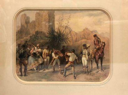 BLANCHARD Pharamond, 1805-1873,  Le duel,...