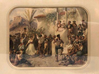 BLANCHARD Pharamond, 1805-1873,  Flamenco,...