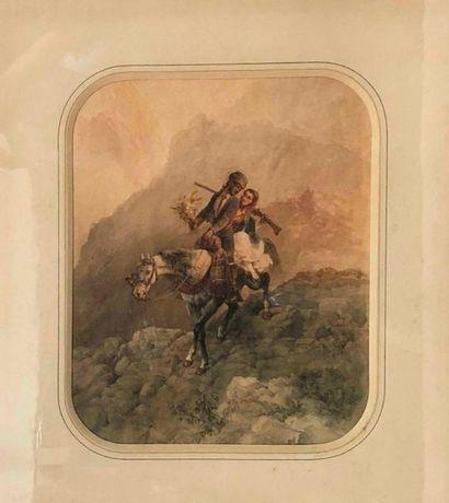 BLANCHARD Pharamond, 1805-1873,  Couple à...