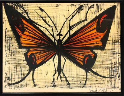 BUFFET Bernard, 1928-1999, Papillon orange,...