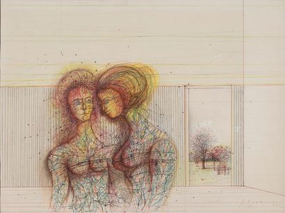 CARZOU Jean, 1907-2000 Femmes, 1982, crayons...