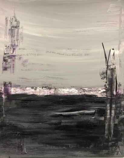 ALAUX Laurence, née en 1965,  Socoa huile...