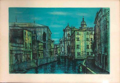 CARZOU Jean, 1907-2000, Venise bleue, 1967,...