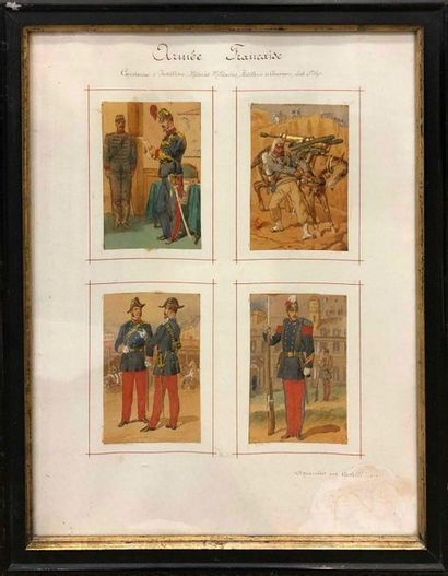 CASTELLI, XIXe siècle, Costumes de l'armée...