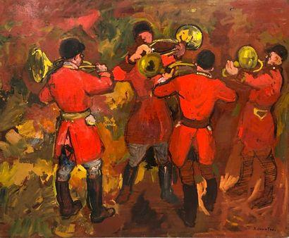 COMMERE Jean, 1920-1986,  Sonneurs de cors,...
