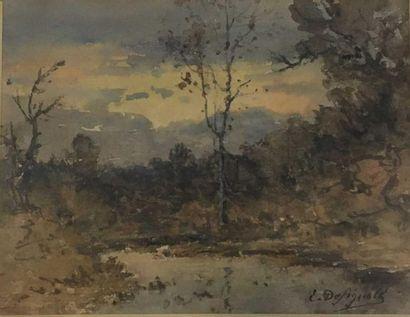 DESIGNOLLES Ernest, 1850-1941,  Arbres à...