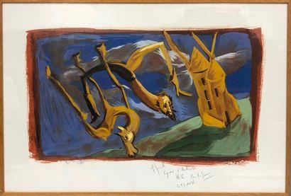 GAROUSTE Gérard, né en 1946,  Don Quichotte,...