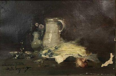 BERGERET Pierre Denis, 1846-1910,  Plat d'asperges...