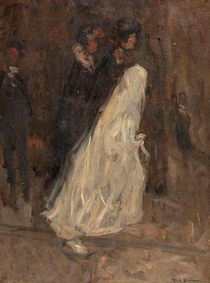 BERTRAM Abel, 1871-1954  La communiante  huile...