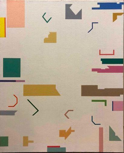 KIS Janos, 1932-2017,  N°17,  huile sur toile,...