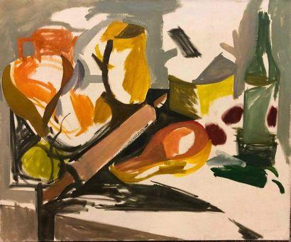 KIS Janos, 1932-2017,  N°84,  huile sur toile,...